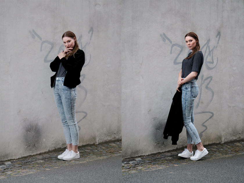 Double Photo Monki Jeans and Jacket by Mette Bramstrup