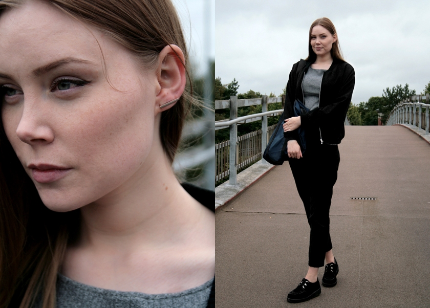 Nordic fashion blogger with british creepers